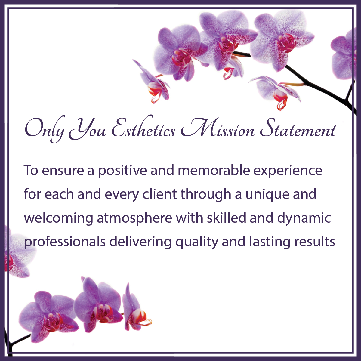 Mission statement only you esthetics for A mission statement for a beauty salon